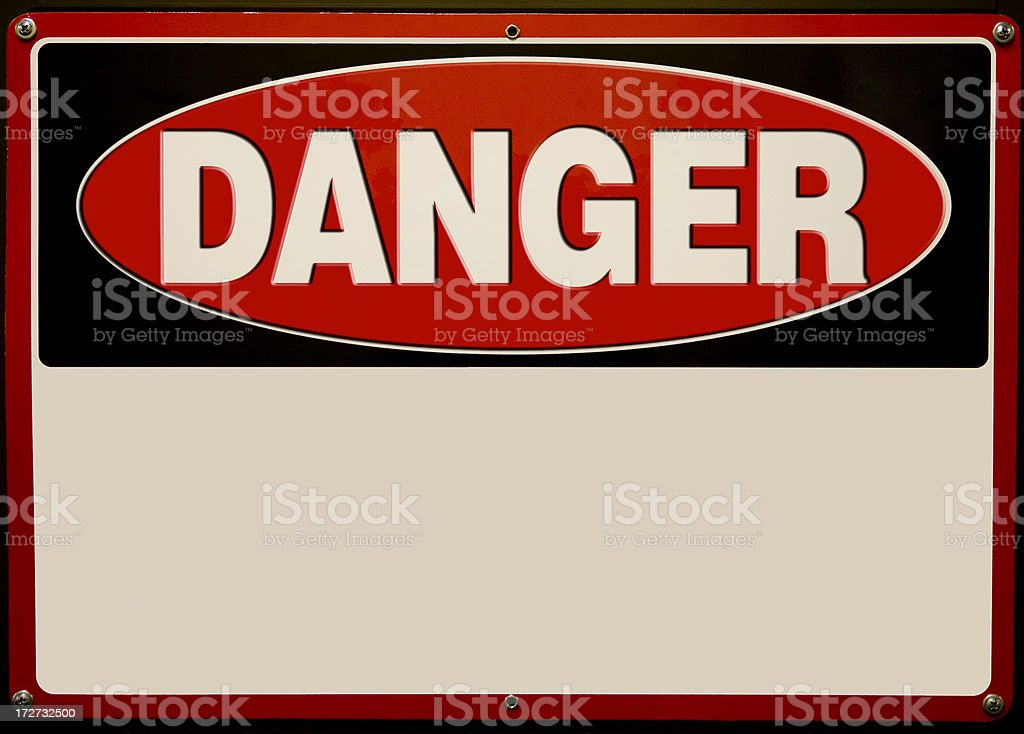 Danger Sign royalty-free stock photo