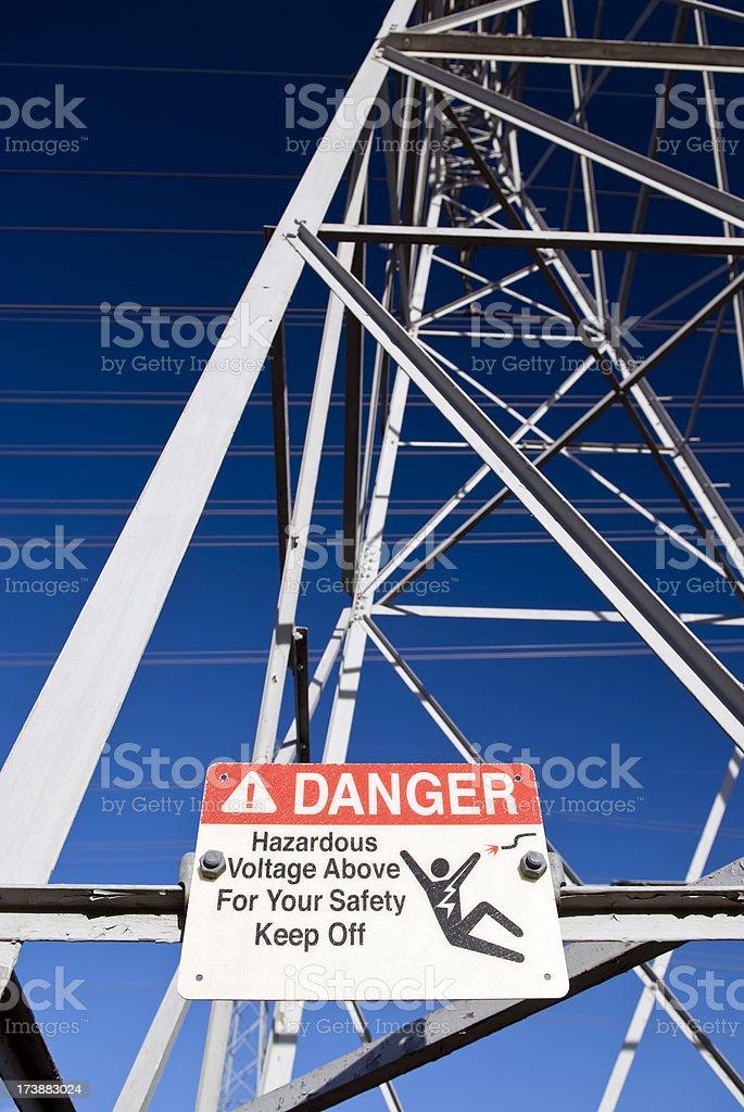 Gefahr Zeichen Lizenzfreies stock-foto