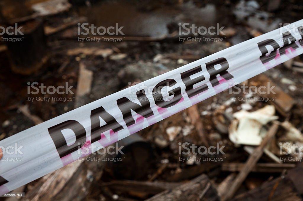 Danger Sign Tape stock photo