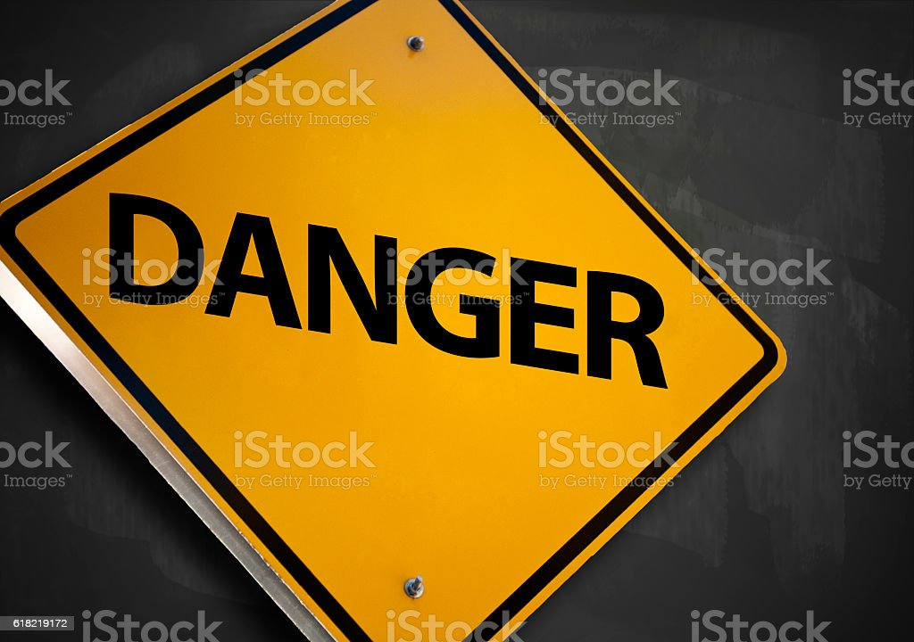 Danger / Warning sign concept (Click for more) stock photo