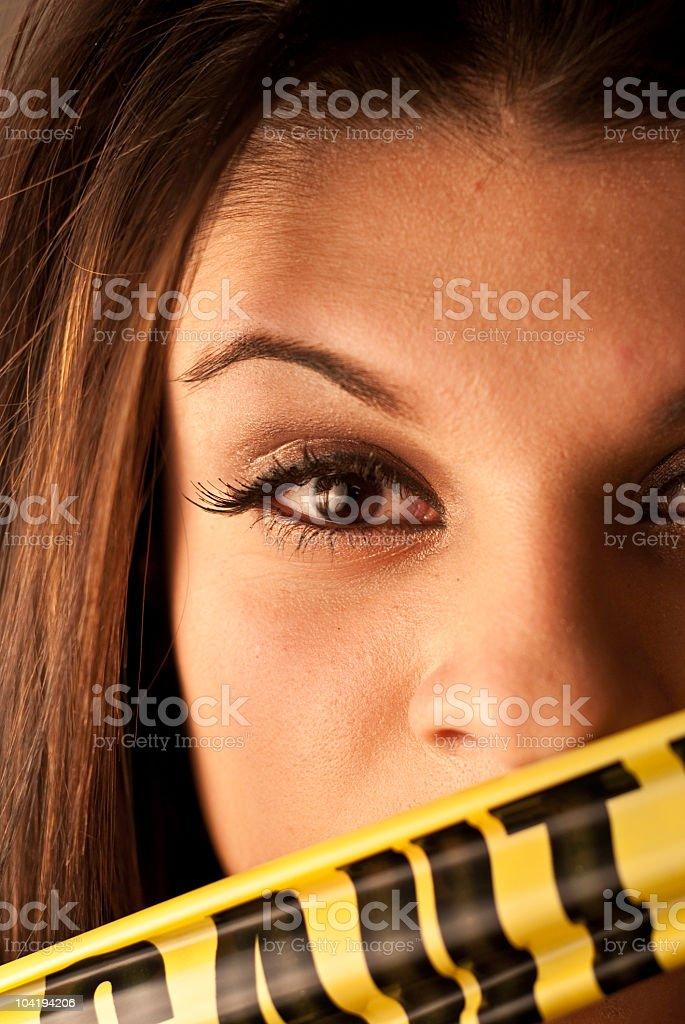 Danger Woman stock photo