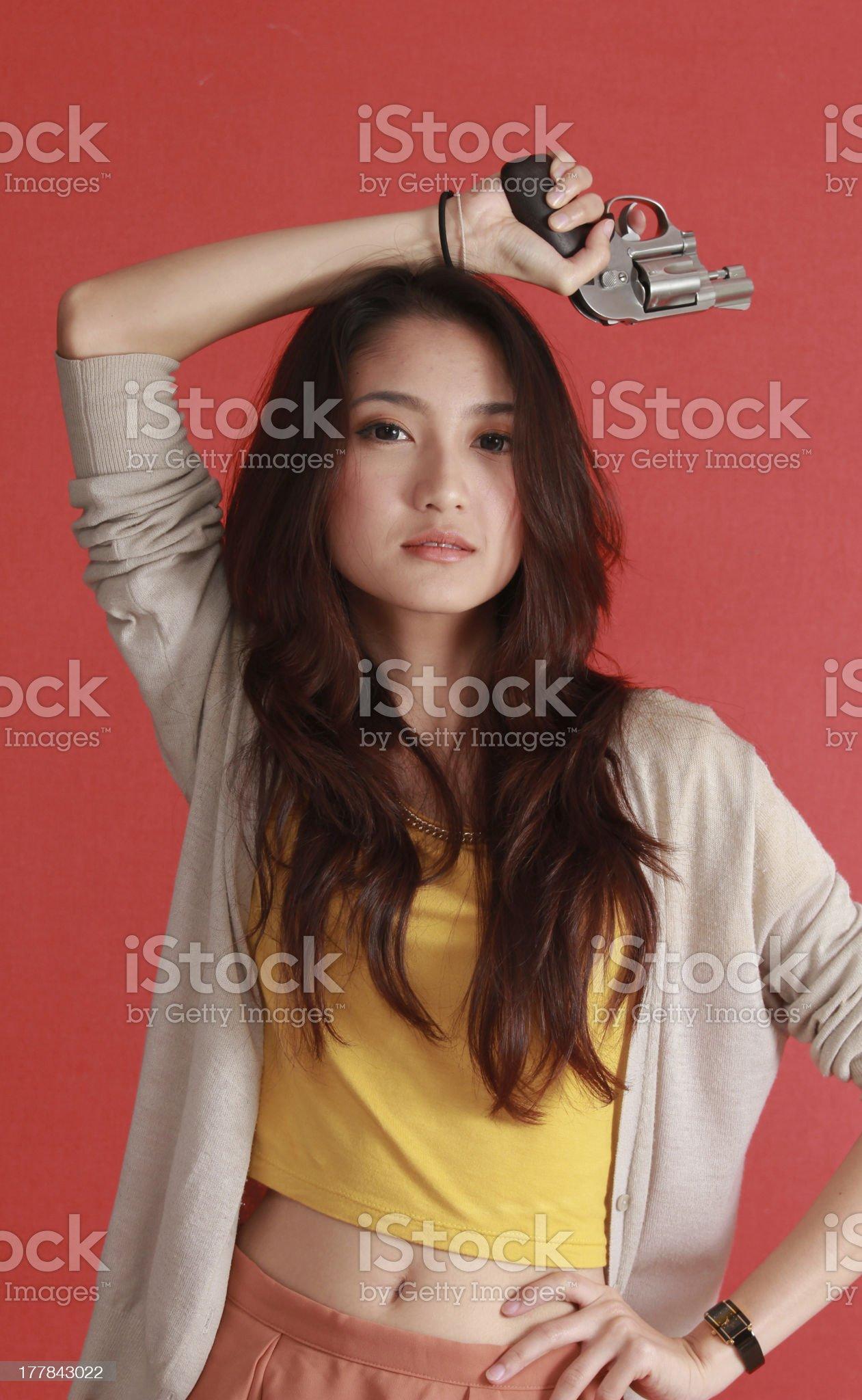 Danger woman royalty-free stock photo