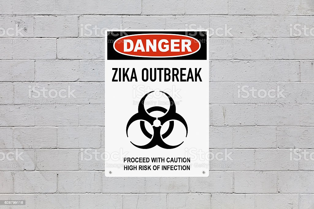 Danger - Zika outbreak stock photo