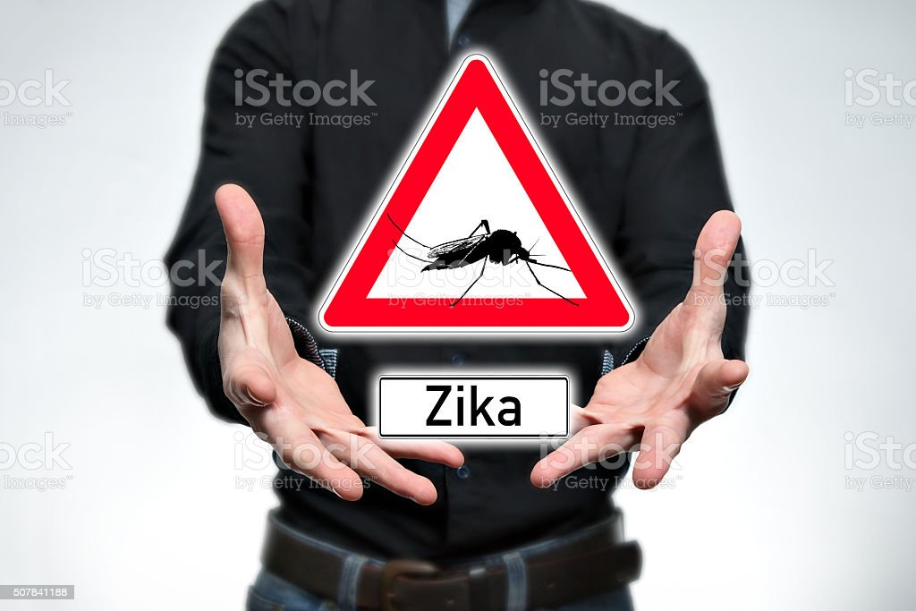 Danger, Zika stock photo