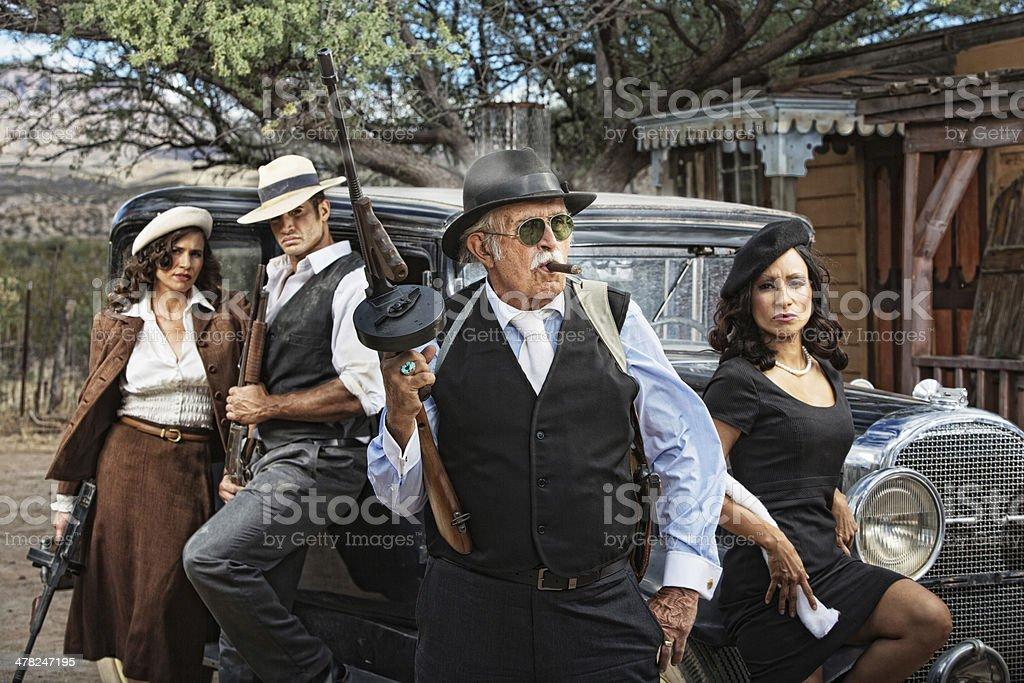 Dangerous 1920s Criminals stock photo