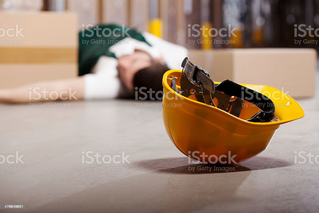 Dangerous accident during work royalty-free stock photo
