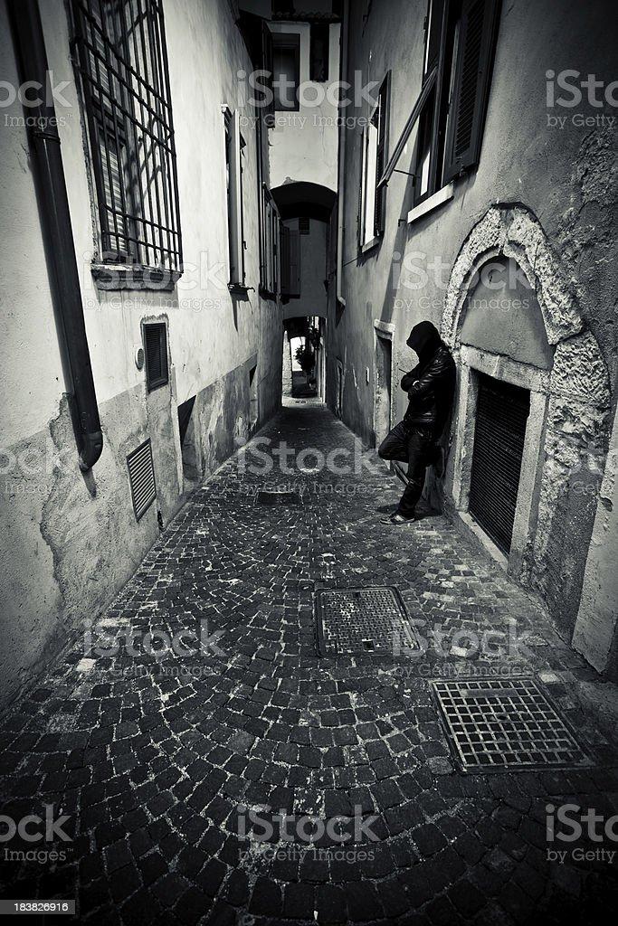 Dangerous Backstreet, City Life royalty-free stock photo