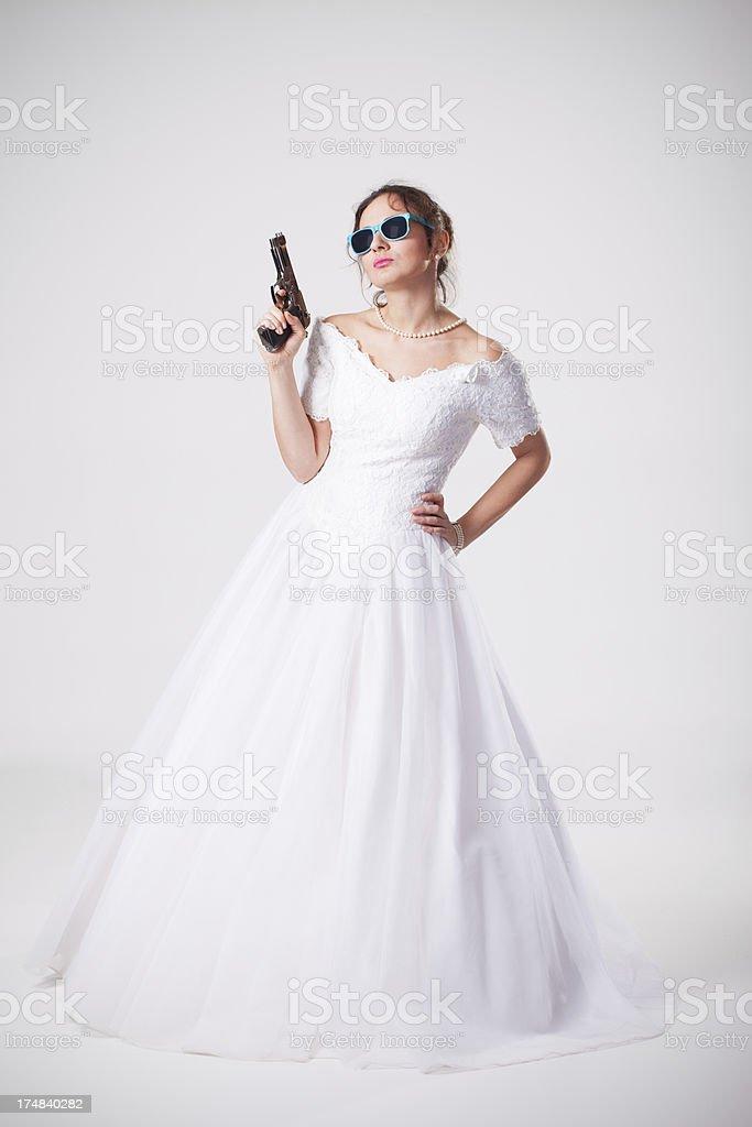Dangerous bride royalty-free stock photo