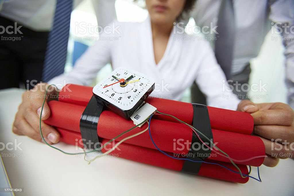 Dangerous business stock photo