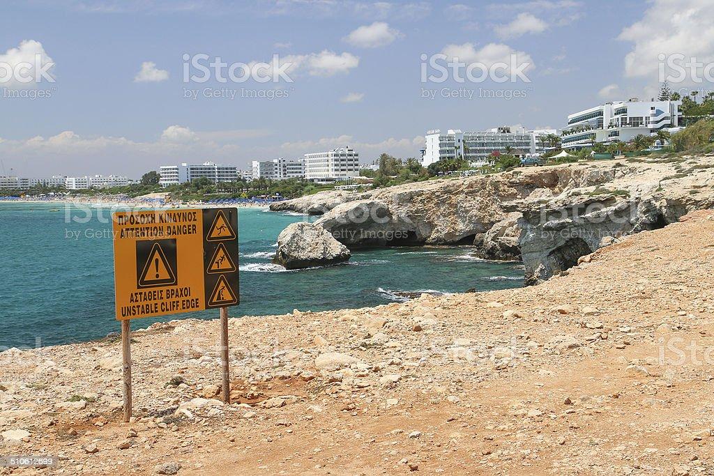 Dangerous cliffs royalty-free stock photo
