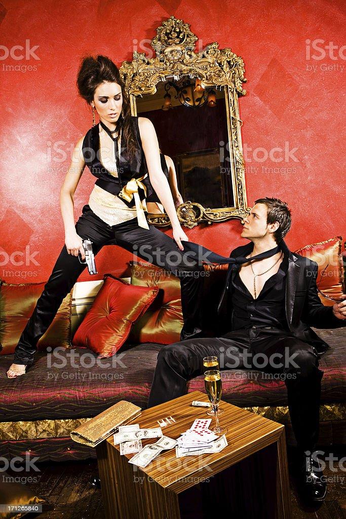 Dangerous couple royalty-free stock photo