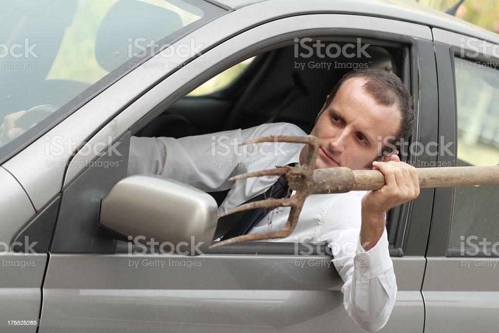 Dangerous crazy driver royalty-free stock photo