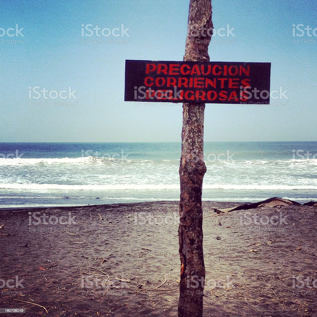 dangerous currents royalty-free stock photo