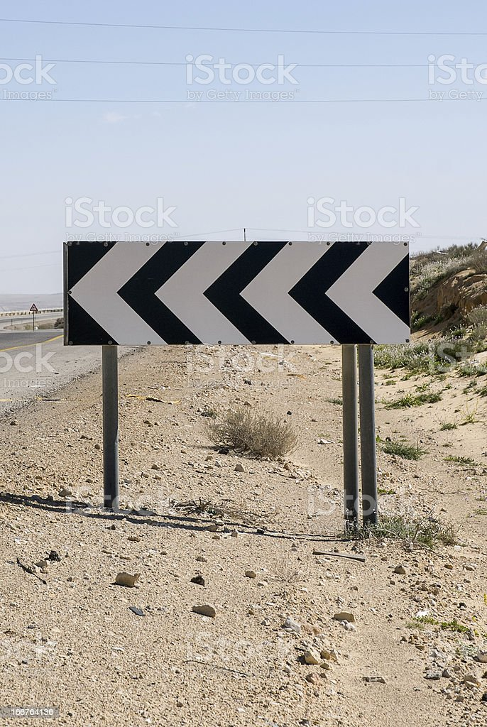 Dangerous curve royalty-free stock photo