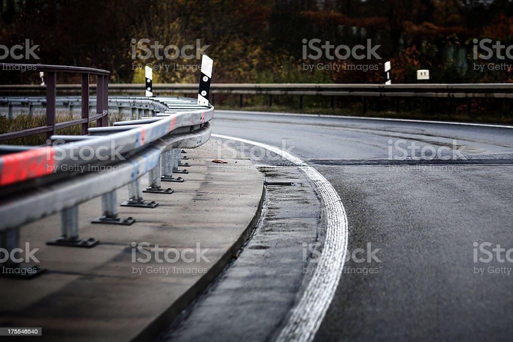 Dangerous curve royalty-free stock photo