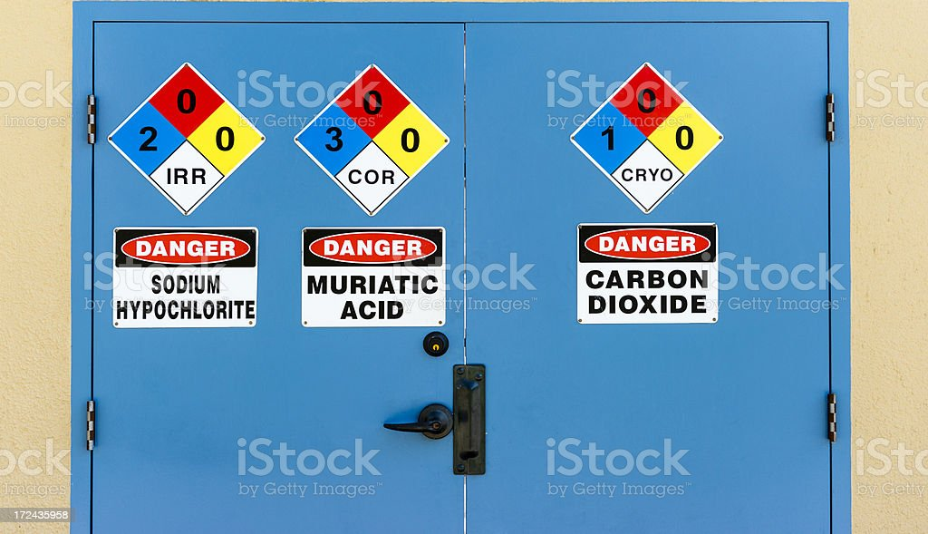 Dangerous Door stock photo