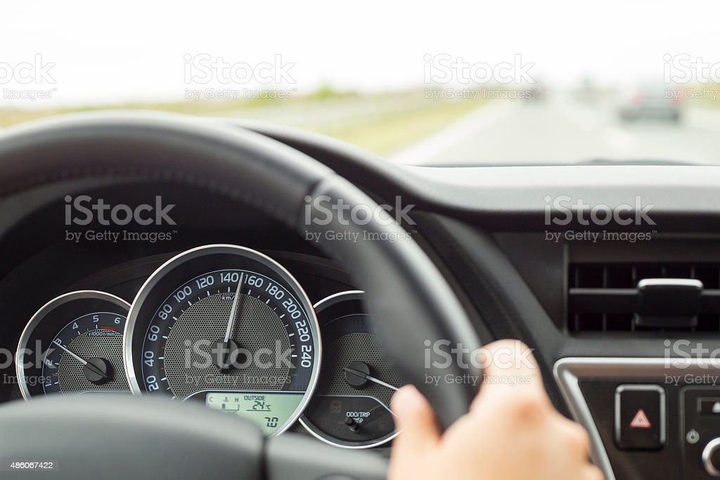 Dangerous Driving Over Speed Limit stock photo