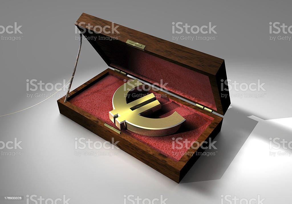 Dangerous Euro royalty-free stock photo