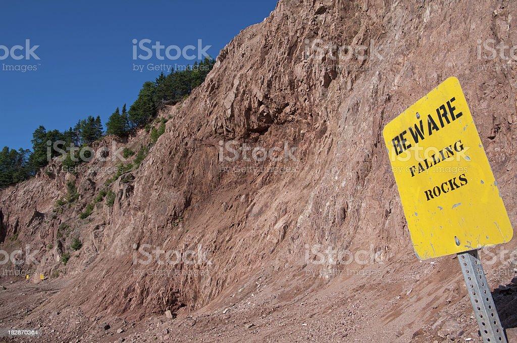 Dangerous Excavation Site stock photo