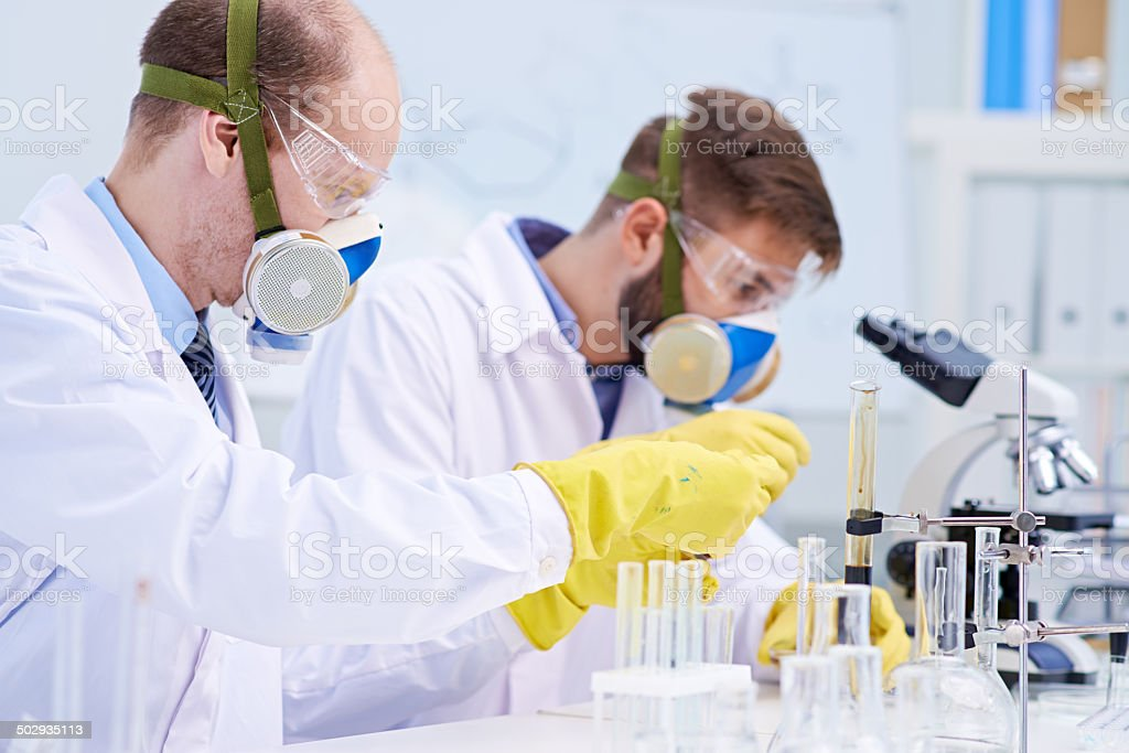 Dangerous experiment stock photo