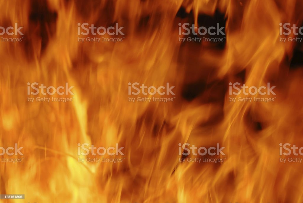Dangerous flame stock photo