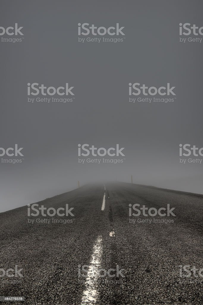 Dangerous Fog and Bad Visibility stock photo