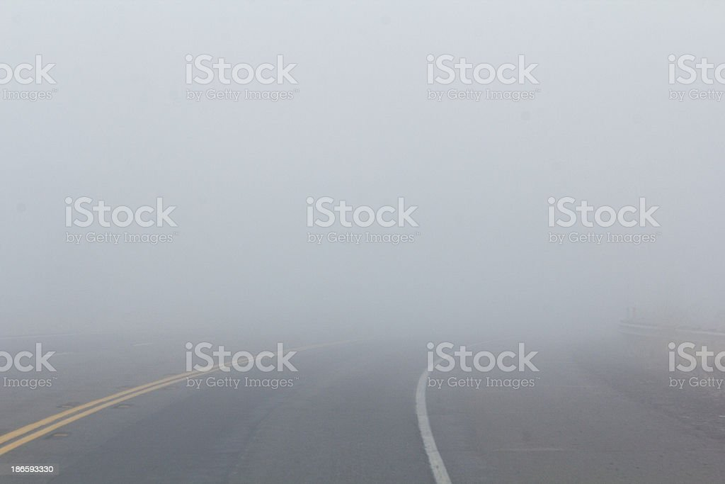 Dangerous Fog royalty-free stock photo