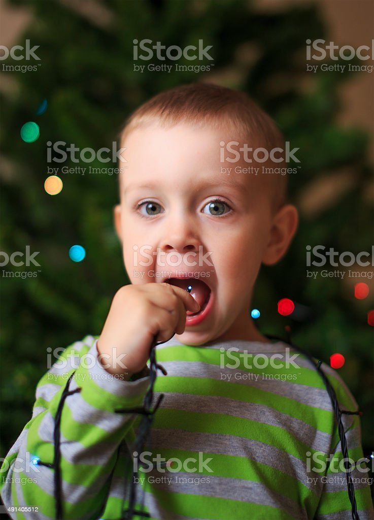 dangerous game with electricity stock photo