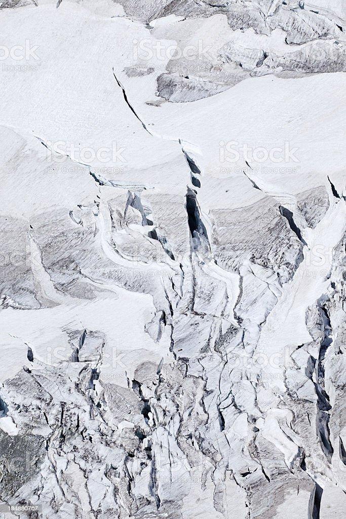 Dangerous glacier stock photo