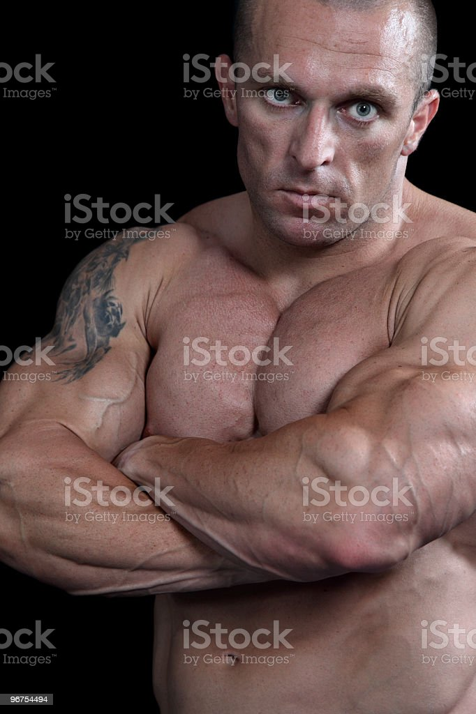 Dangerous guy portrait royalty-free stock photo