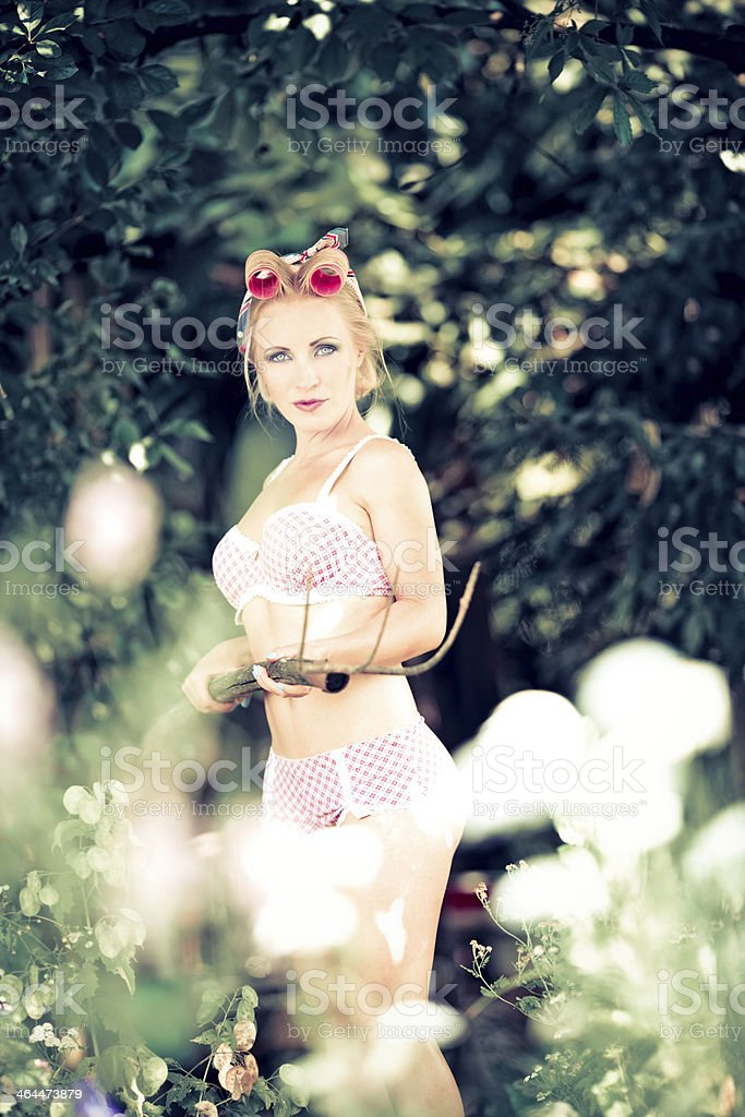 Dangerous housewife royalty-free stock photo