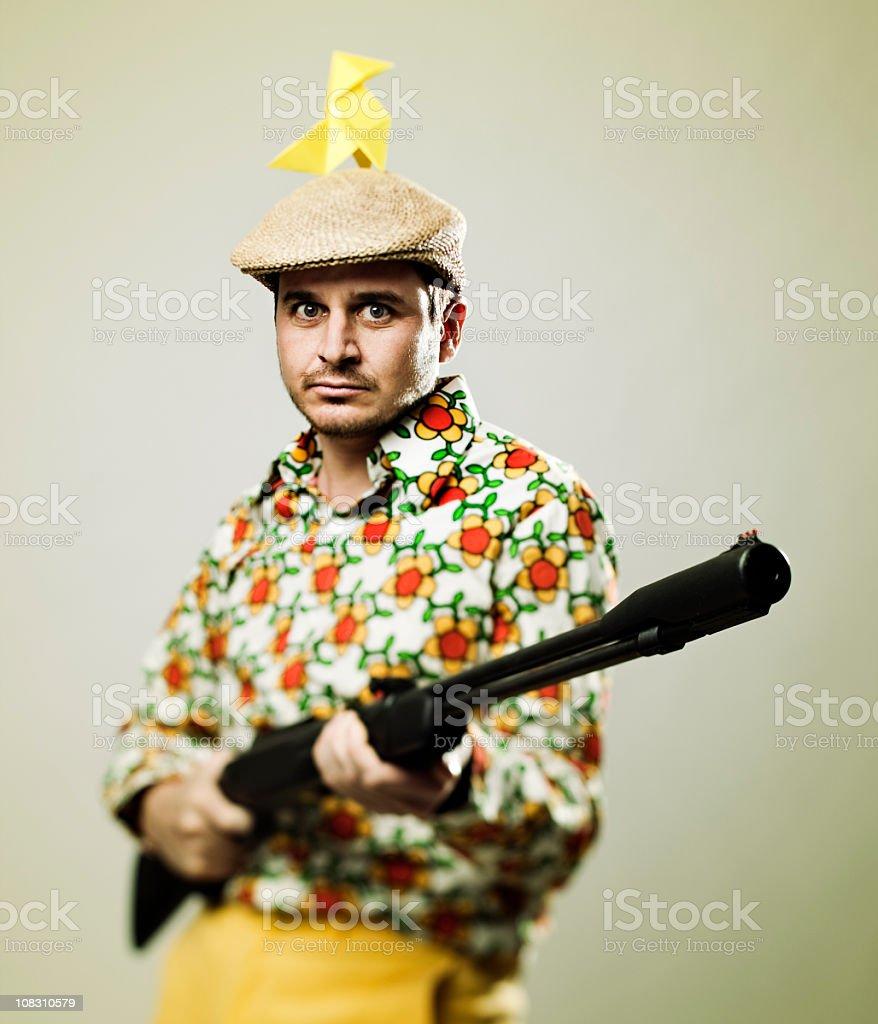 Dangerous hunter royalty-free stock photo