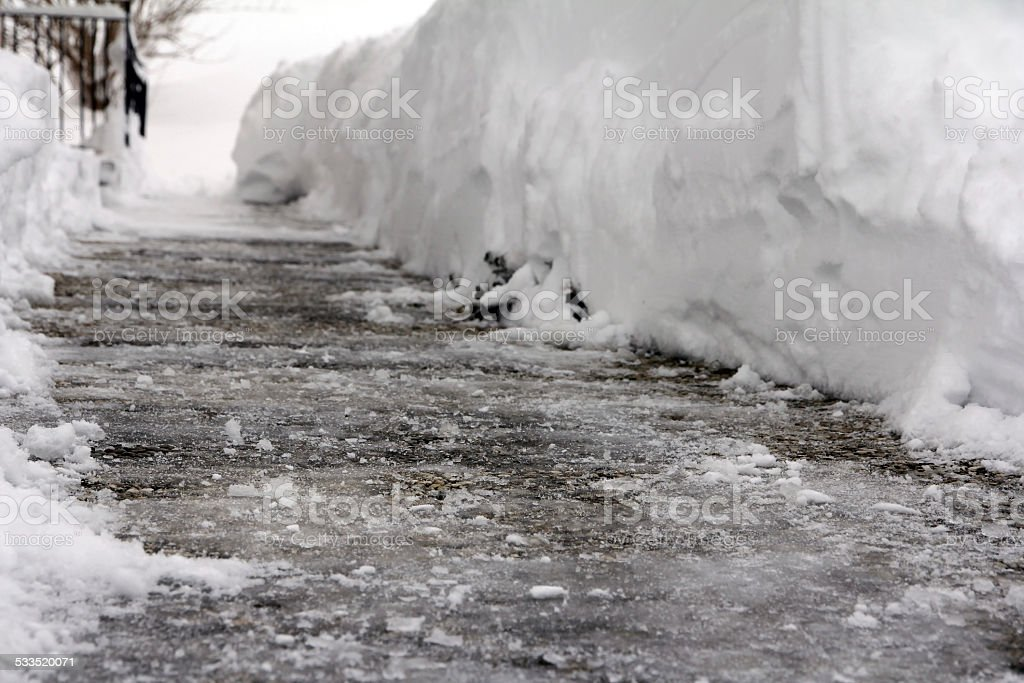 Dangerous ice stock photo