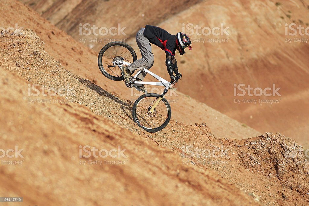 Dangerous landing stock photo