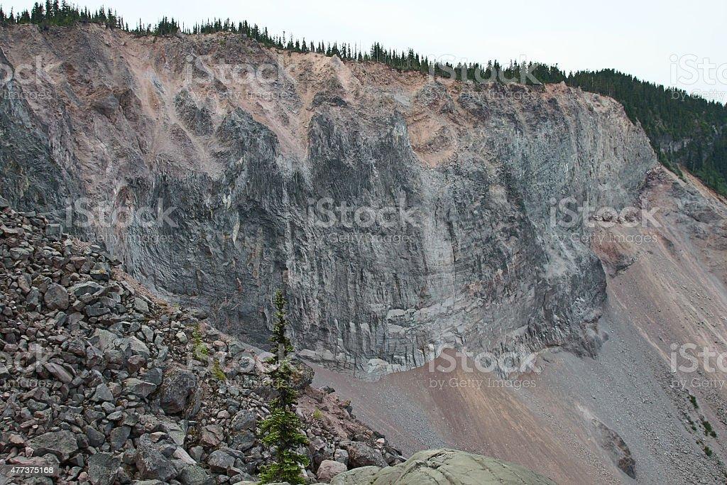 Dangerous Landslide stock photo