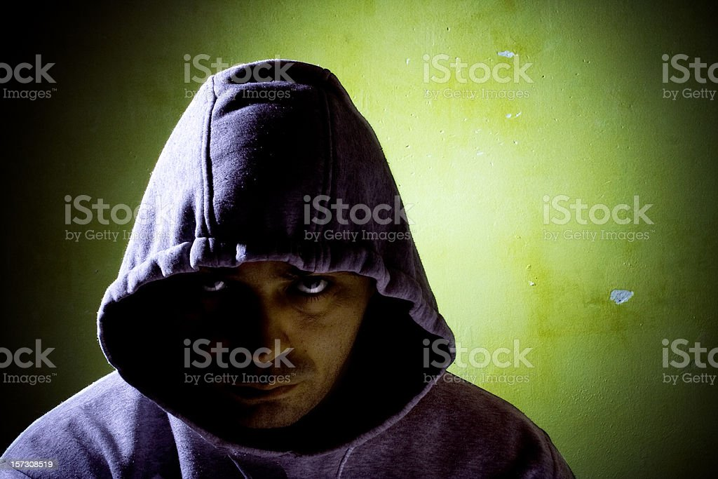 dangerous man in the shadow royalty-free stock photo