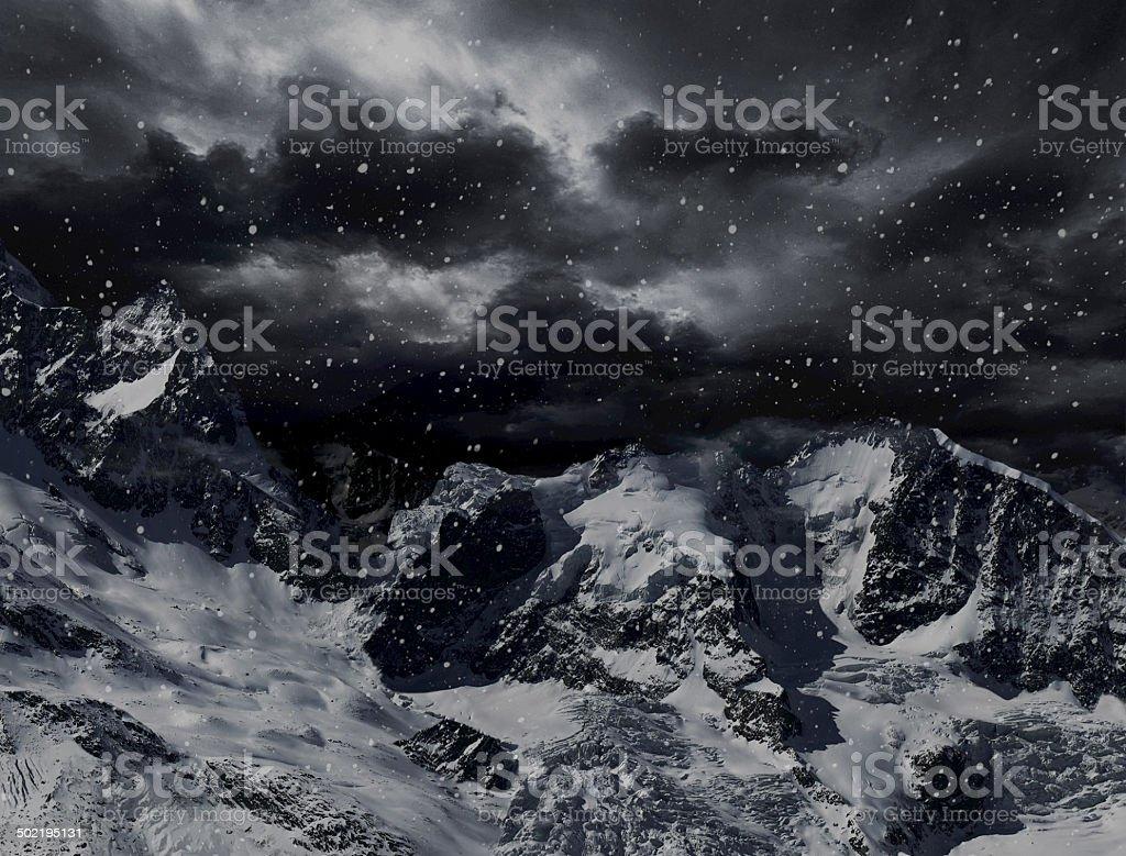 Dangerous peaks stock photo