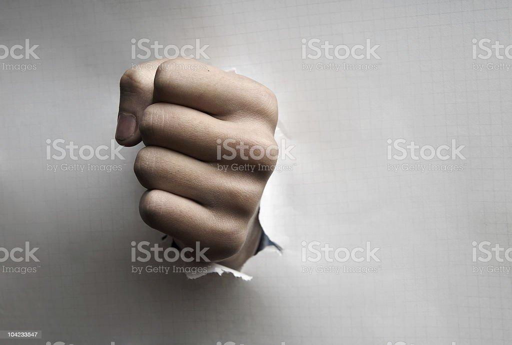 Dangerous punching royalty-free stock photo