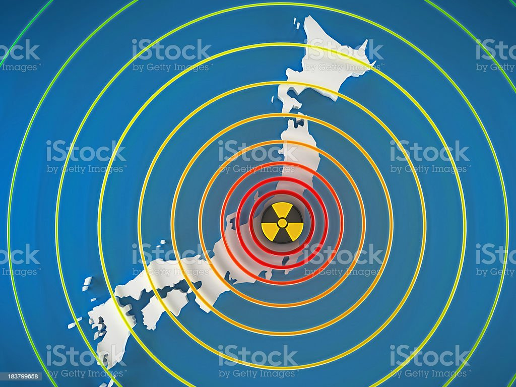Dangerous radiation levels in Japan royalty-free stock photo