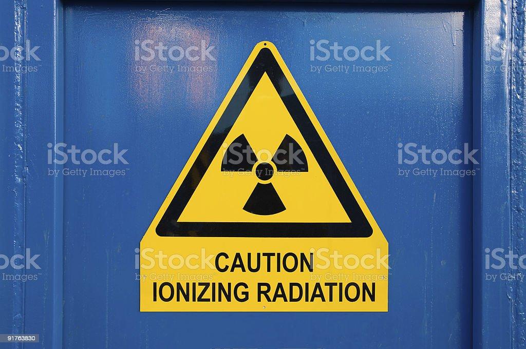 Dangerous radiation stock photo