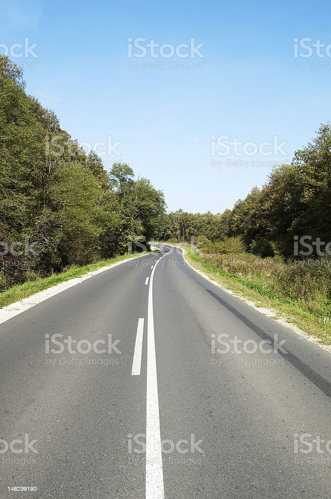 Dangerous road section royalty-free stock photo