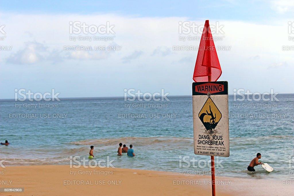 Dangerous Shorebreak stock photo