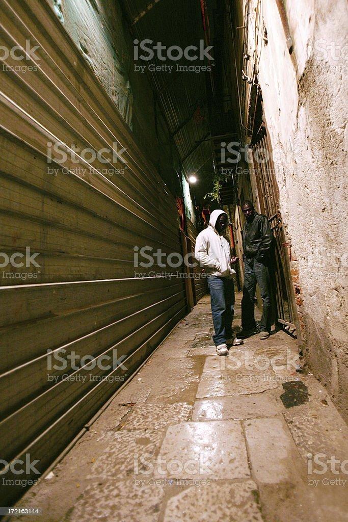 dangerous streets royalty-free stock photo