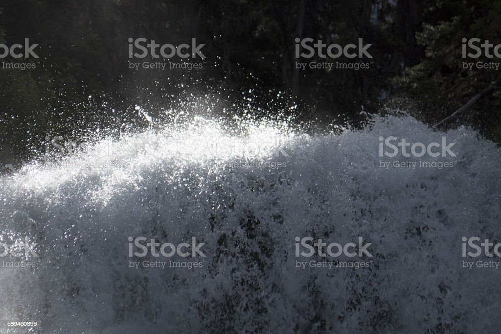 Dangerous whitewater rapids stock photo