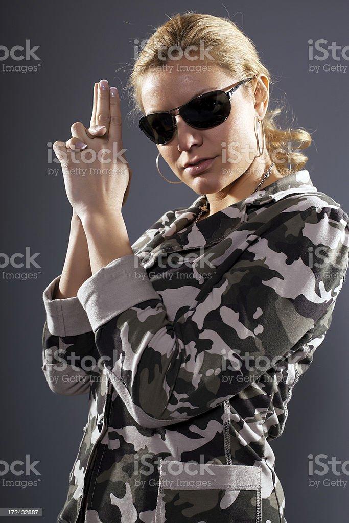 Dangerous woman. royalty-free stock photo
