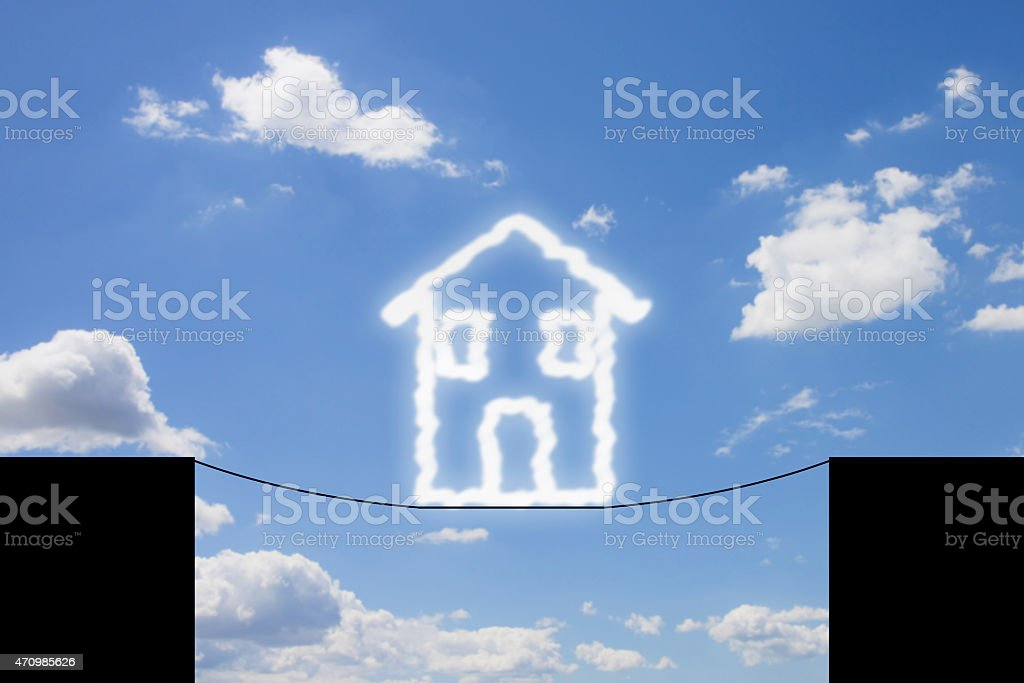 Dangers and pitfalls of a house stock photo