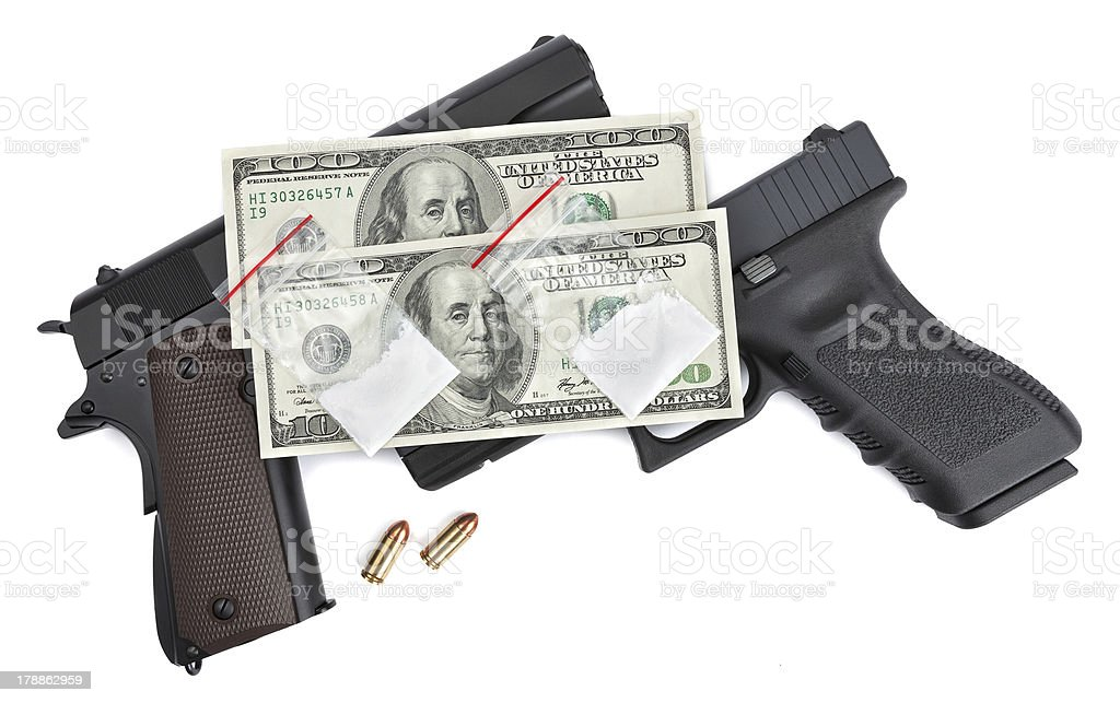 Dangers and Rewards of Drug Trafficking royalty-free stock photo