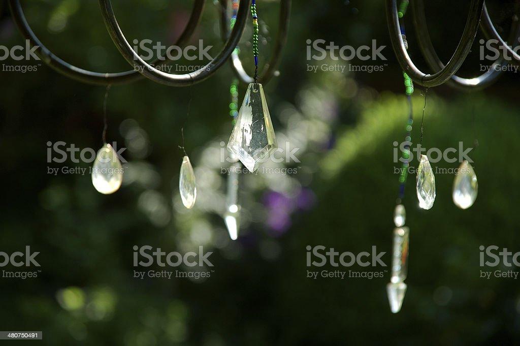 dangling rhinestones stock photo