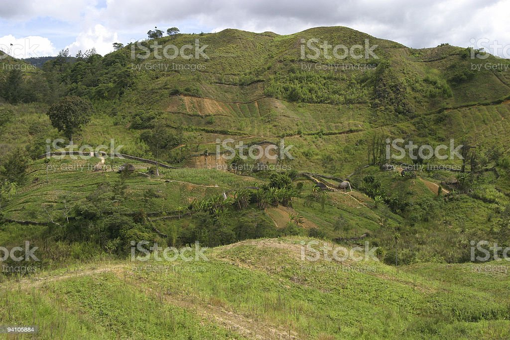 Dani agricultural settlements stock photo