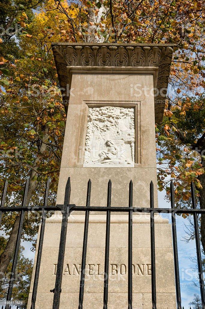 Daniel Boone tombstone in Kentucky stock photo